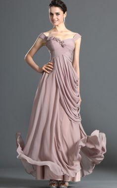 Sheath/Column Prom Straps Elegant Style Chiffon Prom Dresses with Flower A Line Evening Dress, Chiffon Evening Dresses, Cheap Evening Dresses, Cheap Prom Dresses, Sexy Dresses, Dresses 2013, Pink Ball Dresses, Straps Prom Dresses, Pink Bridesmaid Dresses