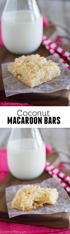 Coconut Macaroon Bars - One of the easiest desserts ever, no one will even know that the secret ingredient in these bars is refrigerated crescent dough.