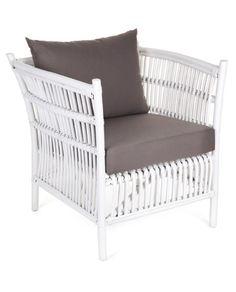 Donovan Rattan Chair & Lounge - White – Allissias Attic & Vintage French Style
