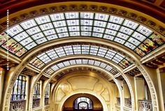 The Gellert Bath dome - Art nouveau - Budapest, Hungary Art Nouveau Architecture, Unique Architecture, Budapest Thermal Baths, Roof Colors, Academic Art, Gaudi, Timeline Photos, 19th Century, Art Decor