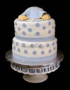 Baby Shower boy cake -Baby butt cake