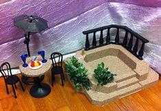 Ooak Barbie Spa Hot Tub 1:6 Scale Outdoor Furniture House Diorama Accessories