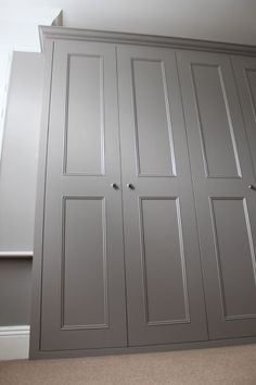 Shaker doors (paneled with moulding)