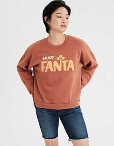 AE Fleece Fanta Cropped Sweatshirt