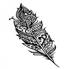 Eine Feder kann verschiedene Bedeutungen haben. Für die einen ist sie das Symbol für Luft, wegen ihrer Leichtigkeit. Aber sie kann auch für Macht und Kraft stehen. #Feder #Feather #Wadeco // Als Wandtattoo in unserem Shop. www.wadeco.de/gemusterte-feder-feather-wandtattoo.html