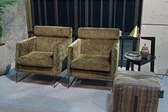 Degano armchairs in Eros Fabric