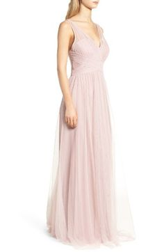 Free shipping and returns on Hayley Paige Occasions Illusion Gown at Nordstrom.com. A gathered-tulle gown is designed for universal flattery with a pleated bodice, crisscrossed detail at the waist and sweeping A-line skirt. The open back ensures your exit is as memorable as your entrance.
