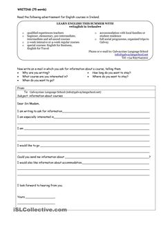 A collection of English ESL worksheets for home learning, online practice, distance learning and English classes to teach about ireland, ireland Paragraph Writing Worksheets, Travel English, Write An Email, Esl Resources, English Course, Teaching Activities, Learn English, English Language, Learning