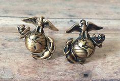 USMC Cufflinks Marine Corp Cufflinks  made with Marine by AngleAh