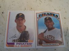 STARLING MARTE A.J. BURNETT 2013 Topps Archives Pittsburgh Pirates Card Lot Mint