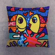 Pillow cases - Romero Britto Deeply in Love #Unbranded
