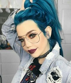 to give your hair an edge? Then check out these 35 edgy hair color ideas Looking to give your hair an edge? Then check out these 35 edgy hair color ideas…Looking to give your hair an edge? Then check out these 35 edgy hair color ideas… Beautiful Hair Color, Cool Hair Color, Hair Color Blue, Blue Gray Hair, Short Blue Hair, Gray Color, Dye My Hair, Your Hair, Denim Hair