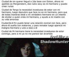 cazadores de sombras segun Clary