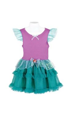 Outfit to wear during the party! Little Mermaid Birthday, Little Mermaid Parties, Tutus For Girls, Diy For Girls, Girls Dresses, Ariel Costumes, Ariel Dress, Sewing For Kids, Sewing Diy