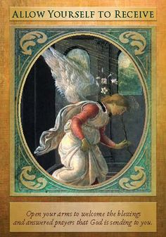 Oracle Card Allow Yourself To Receive | Doreen Virtue | official Angel Therapy Web site