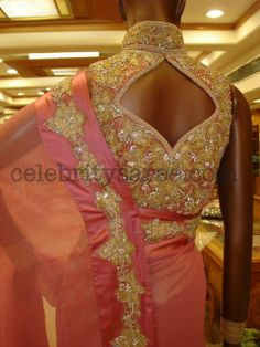Zircon Stone Work Designer Blouses | Saree Blouse Patterns