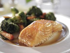 Get Maple-Glazed Salmon Recipe from Food Network