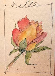 Watercolor rose #watercolorarts