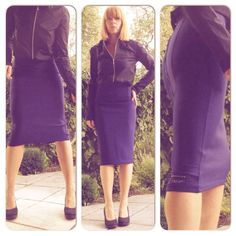 dunkelblau und schwarz http://upper-palatinate-rocks.blogspot.de/2012/03/neopren-pencil-skirt-navy.html http://upper-palatinate-rocks.blogspot.de/2012/11/bluse-stretchsatin-mattschwarz.html