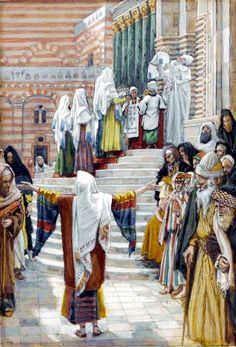 The Presentation of Yeshua in the Temple, by James Tissot  - study the teaching in the link:  Parasha Tazria (She Conceives): Setting Time Aside for God