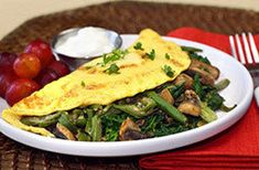 Hungry Girl's large portion low calorie recipes--Healthy Big Green Omelette Recipe