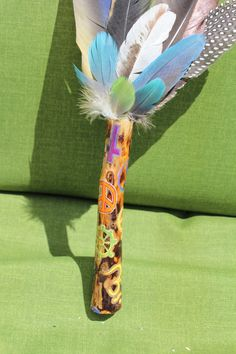 Coexist Symbols Painted on Sycamore Talking Stick / by FairyFresh