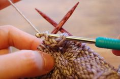 How to …… Crochet a Bobble within a knitting project - Great Tutorial !!