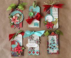 I love making Christmas Tags!