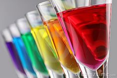 Photo about A row of drinks in rainbow colours. Image of alcoholic, green, orange - 17216412 Rainbow Shots, Rainbow Drinks, Rainbow Food, Love Rainbow, Taste The Rainbow, Over The Rainbow, Rainbow Colors, Vibrant Colors, Colours