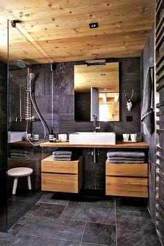 30 Amazing Small Bathroom Wall Tile Ideas to Help You .- 30 erstaunliche kleine Badezimmer-Wandfliese-Ideen, zum Sie zu inspirieren 30 Amazing Little Bathroom Wall Tile Ideas to Inspire You inspire - Modern Bathroom Decor, Wood Bathroom, Bathroom Interior Design, Bathroom Cabinets, Minimal Bathroom, Bathroom Designs, Modern Bathrooms, Bathroom Mirrors, Small Bathrooms