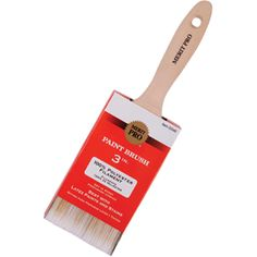 "MERIT PRO 00046 3"" 100% POLYESTER BEAVERTAIL BRUSH  