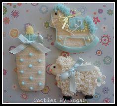 Baby blue cookies