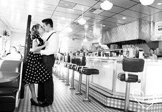 50's diner scene