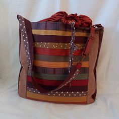 Bag made of upcycled fabric in red/ orange and brown shades. made by With a smile from natasja Brown Shades, Bag Making, Diaper Bag, Upcycle, Smile, Orange, Fabric, Red, Handmade