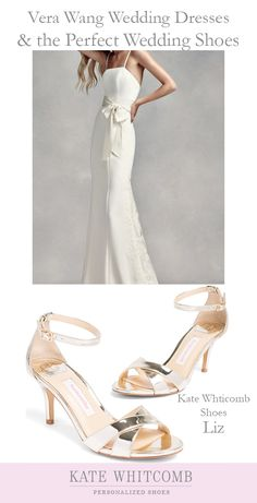 b97ab24fa509 Gorgeous gold wedding sandals for the bride •Wedding Shoes •Gold shoe for  bride •
