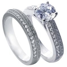 Pave Diamond Bridal Set