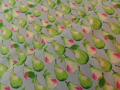 Vintage Kitchen Pears Fruit Cotton Fabric Material from Makower, 150cm wide, FQs