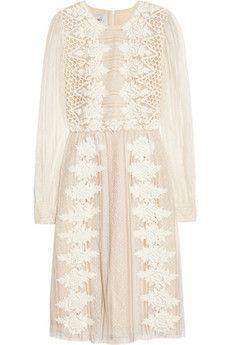Valentino | Valentino off white cream lace dress