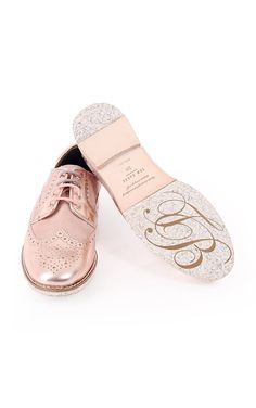 Ted Baker Womens Ted Baker Womens Anoihe Leather and Suede Brogue Rose Gold - Ted Baker Womens from Blueberries UK Cute Flats, Cute Sandals, Cute Shoes, Me Too Shoes, Awesome Shoes, Brogues Womens, Ted Baker Shoes, Ted Baker Womens, Trendy Shoes