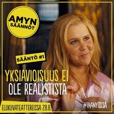Amy Schumerin komedia Ihan yössä nyt elokuvateattereissa! #ihanyössä #yksiavioisuus