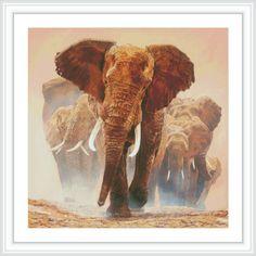 Elephant Cross Stitch Pattern #cross #stitch #pattern #needlepoint #needlework #art #animal #elephant #embroidery #etsy #diy