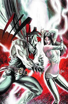 Azrael and Talia Al Ghul by Guillem March