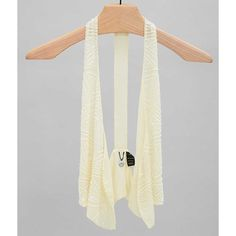 BKE Boutique Chiffon Vest - Cream Small ($11) ❤ liked on Polyvore featuring outerwear, vests, cream, chiffon vest, cream vest, cropped vests, bke boutique and vest waistcoat