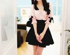 cute kawaii dress, cute outfit, K Fashion,  (≧∇≦)/ casual, cute outfit, Cute Korean Fashion, korea, Korean, seoul, kfashion, kpop fashion, girl's wear, ladies' wear, pretty, kawaii    pinterest.com/... OceanviewBLVD.com