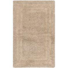 Safavieh Plush Master Bath Collection PMB691B Handmade Craft Brown Cotton Bath Mat, 1 feet 9 inches by 2 feet 10 inches (1'9