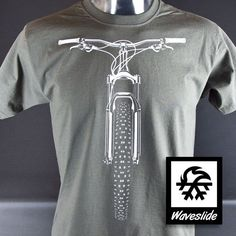 T-Shirt vélo VTT vélo VTT racing illustration par Waveslide