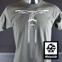 T-Shirt vélo VTT vélo VTT racing illustration par Waveslide