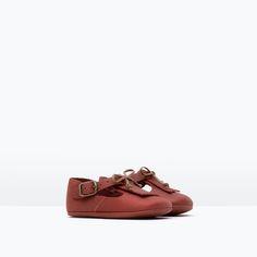 MINI LEATHER SHOES-Shoes-Mini   0-12 months-KIDS   ZARA United Kingdom