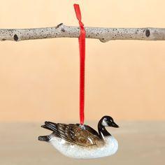 Goose Stonecast Ornament