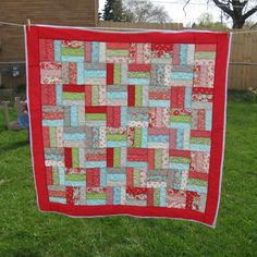 Threadbias: Rail Fence quilt by Creamcity